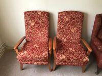 2 x arm chairs