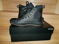 NEW leathers converse in size 5 with a box