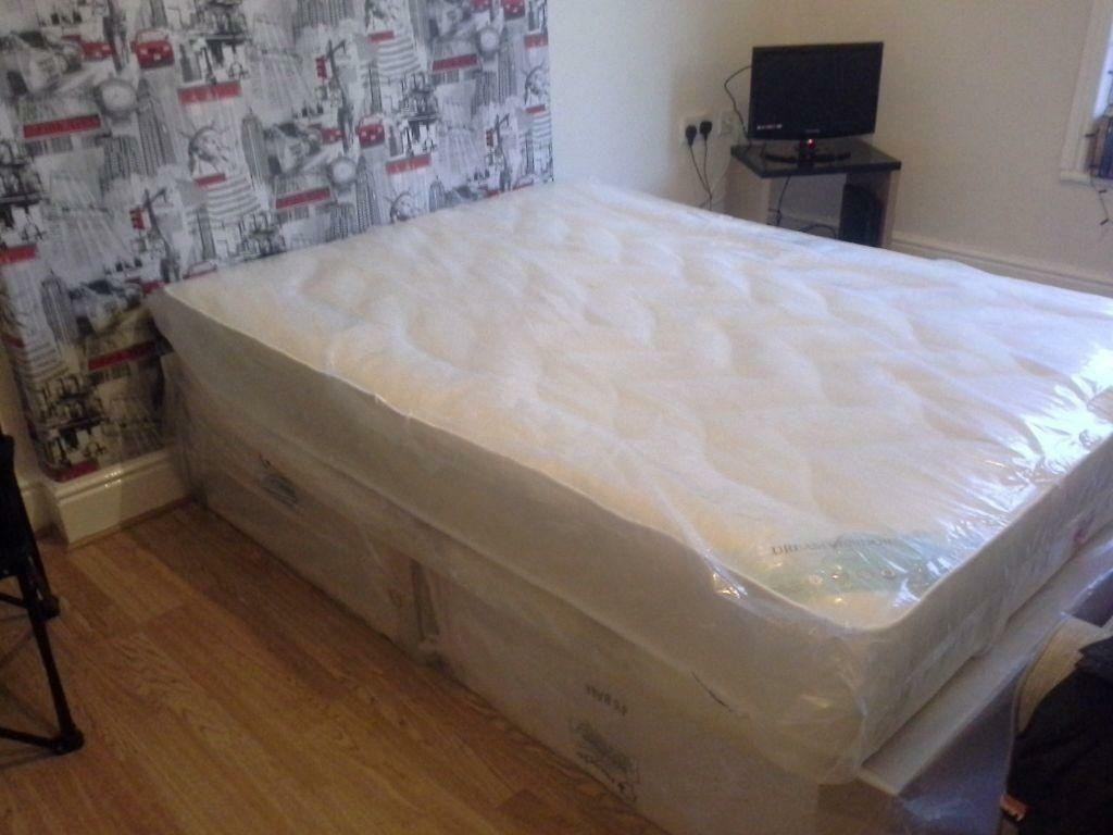 Divan bed double size and orthopedic mattress also new for New double divan bed