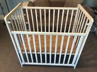 Saplings Space Saver Cot with Drop down sides 3 adjustable positions NO MATTRESS R174