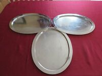 metal serving platters