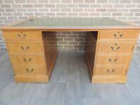 """Light Oak Desk """"Ref 105"""" (UK Delivery)"""