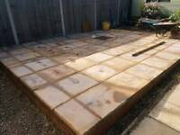 Honey chalice paving slabs