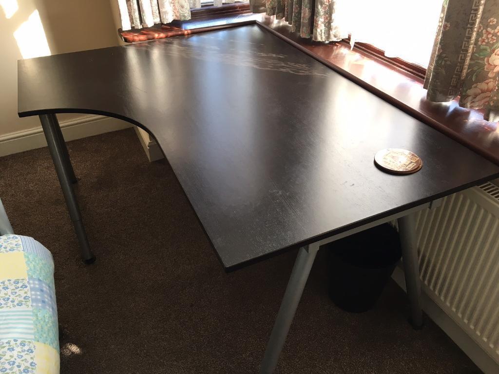 Ikea Galant Corner Desk Black Adjule Legs
