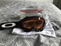 Oakley A-Frame Black & Orange Snow Goggles