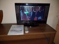 soundwave 19inch wide screen lcd tv with built in dvd player. HD ready built in freeview