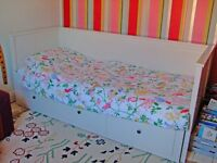 Ikea Hemnes White Day Bed, Single Pulls Out To Double