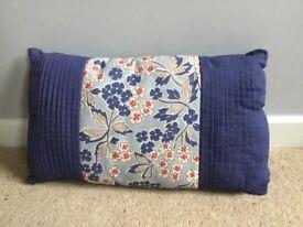 Kirstie Allsopp Miranda cushion, 30 x 50cm, brand new with label, blues/taupe