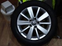 """SET OF 4 16"""" VW ALLOYS FRM 63 PLATE GOLF MINT COND 4 NEW TYRES £200 NO OFFRS(LOADS MORE AV 7-DAYS)"""
