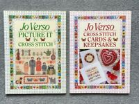 2X CROSS STICH Books : Picture it in Cross Stitch / Cards & Keepsakes by Jo Verso