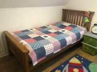 SINGLE BED - OAK - SOLID BUILT - AS NEW