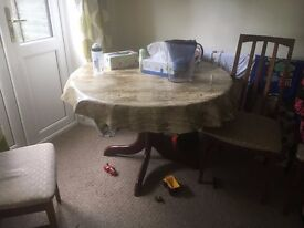 Dining table with 4 Chair for sale £15