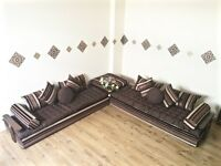 Luxurious Moroccan Floor Cushion, Sofa Bed, Double Futon Corner Suite, Majlis, Daybed, Floor Seating