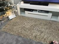 Gorgeous gold mink shaggy rug