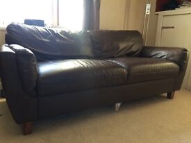 Two seater leather sofa for sale