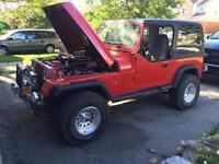 1990 jeep yj 350 fuel injected...trade for 5.0 or?