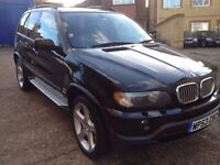 BMW X5 4.6is SUV , LPG , CHEAP TO RUN, automatic , black leather interior, very low mileage ,