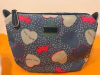 Brand New RADLEY London Hearts Oilskin Medium Zip Top Cosmetic Case Retail £35