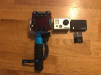 GoPro HD Hero 2 + Dive Housing + Backscatter Red Filter