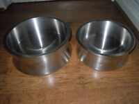 CONTEMPORARY DESIGNER STAINLESS STEEL DOG BOWLS