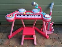 ELC Pink Keyboard and Drum Pad with Guitar