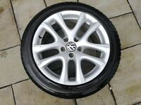 "VW 17"" SCIROCCO ALLOY WITH GOODYEAR 235/45R17 TYRE"