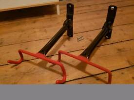 Wall mounted bicycle hanging holders x2