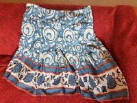 UK12 Laura Ashely skirt flared floral steampunk victorian fitnflare cute kawaii