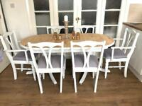 """""""Ducal"""" pine table and 6 chairs free delivery Ldn Shabby Chic"""