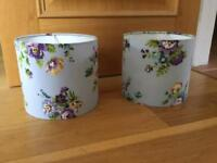 Blue floral lampshades