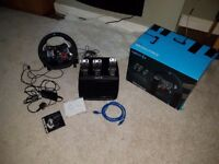Logitech Driving Force G29 PlayStation and PC Racing Wheel and Pedals . Used few times.