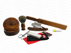 Old Style Classic cut throat razor shaving shaving brush Dovo strop paste set