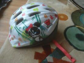 Kids/child's girls helmet XS (2-4years) Panda design