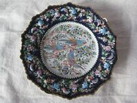 Vintage Persian Decorative Painted Enamel Wall-Plate
