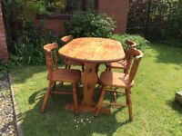 Pine Table and 4 x Chairs
