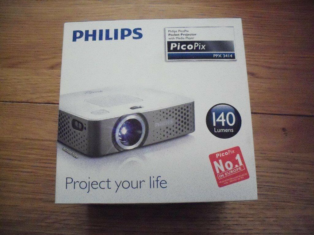 Philips PicoPix pocket projector with media player, PPX3414, 140 Lumens |  in York, North Yorkshire | Gumtree