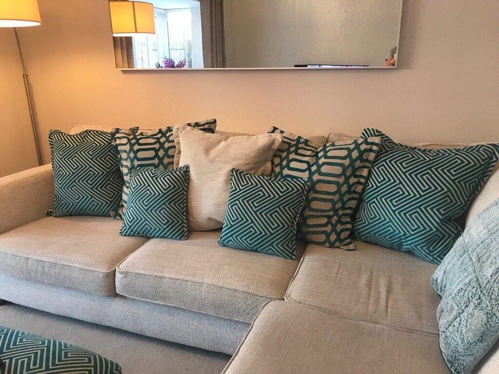 Large Teal Sofa Cushions In Durham