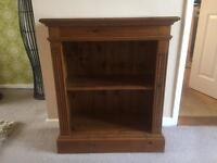 Dark pine book case /lamp table /coffee table