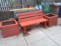 garden seat x planters