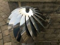 CHIMNEY SPINNER COWL Stainless Steel Rotating Wind Spinning Vent Cap 6'' / 150mm