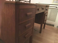 Vintage 50s/60s Wooden Desk with drawers