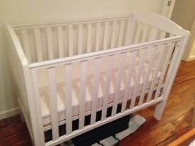 Mothercare cot and mattress - excellent condition