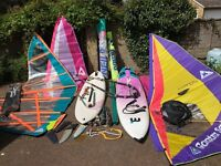 Windsurf Boards, Mistral + Bic, Full Quiver of Sails, Mast, Boom + Boom Extn, Mast Feet all Rigging