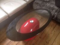 Modern Black and Red Coffee Table