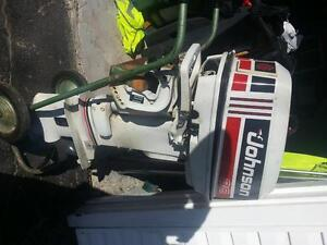 Used 1993 Johnson 30hp remote steer, electric start, short shaft
