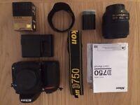 Nikon D750 with 35mm Nikon ED 1.8 lens