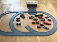 Thomas track and trains.