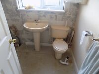 Ideal Standard whisper peach bathroom suite
