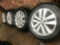 "As New 17"" Genuine 2018 VW Transporter T6 T5 Cascavel alloy wheels +tyres T30 Kombi Shuttle CAN POST"