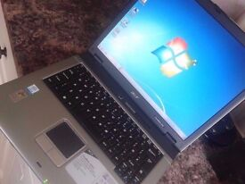 """LAPTOP ACER,15.4"""" SCREEN,WIFI,DVDRW.WINDOWS 7/OFFICE 2010 /WORD, + CHARGER.GWO"""